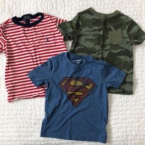 Boys T-shirt bundle, short sleeve tees, 3T